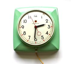 Vintage Mint Green General Electric Clock