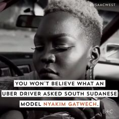 Watch this to see what South Sudanese model Nyakim Gatwech's response was to a rude question about her dark skin.