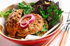 Salmon Patties Without Eggs Imaddictedtocooking Com Pinterest
