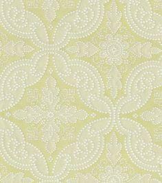 Upholstery Fabric-Williamsburg Pintado Pistachio, , hi-res- Headboard