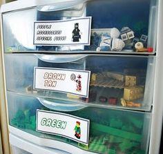Lego Organization with FREE storage label download.