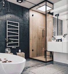 Новости bathroom/ванна cuarto de baño, lofts modernos и baños modernos. Industrial Bathroom Design, Industrial Interior Design, Modern Bathroom Design, Bathroom Interior Design, Industrial Loft, Vintage Industrial, Industrial Lighting, Bathroom Designs, Modern Lighting