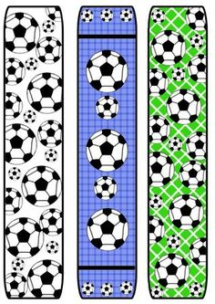 Football soccer Bookmarks on Craftsuprint created by Katie Silver - I printed the sheet onto size heavyweight matte photo paper, printed the back of the sheet with a toning colour and cut out the bookmarks. Soccer Birthday Parties, Football Birthday, Sports Birthday, Football Soccer, Baseball Party, Soccer Party, Free Printable Bookmarks, Soccer Theme, Soccer Gifts