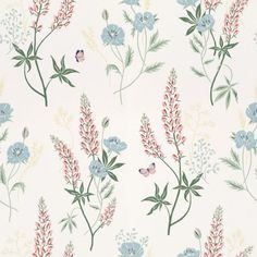 Emma by Sandberg - White : Wallpaper Direct Wallpaper Series, Wallpaper Direct, Wallpaper Size, White Wallpaper, Flower Wallpaper, Pattern Wallpaper, Wallpaper Art, Wallpaper Online, Scandinavian Design Centre