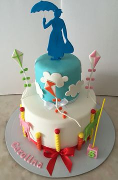 Mary Poppins Cake Bolo decorado