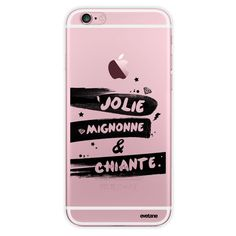 Pretty cute and boring transparent iPhone 6 iPhone case - Iphone 6 Case Iphone Rigid Transparent Pretty Cute And Biting Trendy Writing And Design E – Si - Iphone 7 Plus, Iphone 3g, Coque Iphone 6, Pink Iphone, Best Iphone, Apple Iphone 6, Coque Iphone Originale, Smartphone, Iphone Instagram