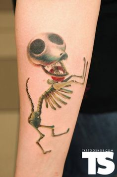 Chi skeleton tattoo!