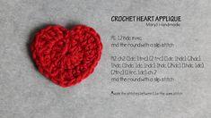 MaryJ Handmade: Easy crochet heart pattern