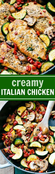 Easy Italian Chicken and Veggies is a delicious meal the whole family will love! This restaurant quality dish is one you'll want to make over & over again! video tutorial Just about every Sunday,