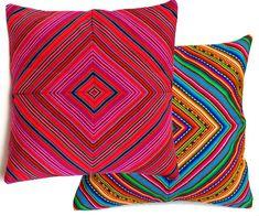 Items similar to PERUVIAN OUTDOOR CUSHION Cover - throw pillow, Peruvian ethnic cushion, boho decor, embroidered pillow, geometric bohemian decor on Etsy