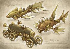 steampunk vehicles by Elle-Shengxuan-Shi.deviantart.com on @deviantART