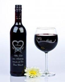 Dieses Weinset zum Muttertag mit Gravur ist ein schönes Geschenk für Mütter die…