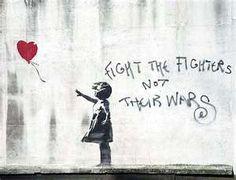 showing the world a purpose (banksy) graffiti art