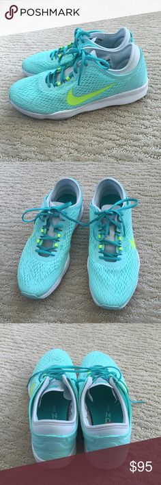 Aqua Blue Nike Shoes. Nike Training Zoom fit. Aqua Blue Nike Shoes. Nike Training Zoom fit. Must have sneakers!!! Get them before they're gone! Brand new. NWOB. Message me if you don't see your size. Nike Shoes Athletic Shoes