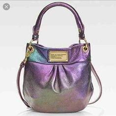 Marc Jacobs holographic L.E mini Re selling  was too small for my liking but beautiful color and rare ....will lower  on other.... Marc Jacobs Bags Mini Bags