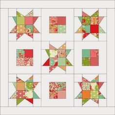 Candy Stars Mini Quilt « Moda Bake Shop