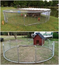 Trampoline frame coop! Easy to move
