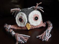Handmade Crochet Baby Owl Hat