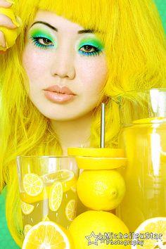 Yellow Hair pure pigment fashion