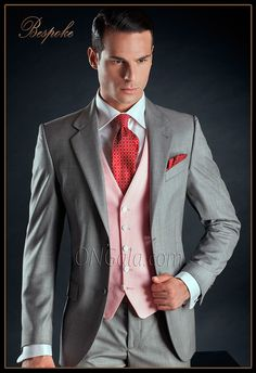 Traje de novio gris perla en pura lana, modelo 890 de la colección Gentleman de Ottavio Nuccio Gala.