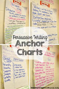 Persuasive writing anchor charts and a free download for adding details to persuasive writing on this blog post. These charts are perfect for struggling writers or English Language Learners.