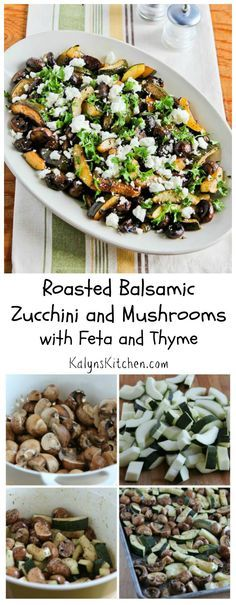 ... Zucchini and Mushrooms with Feta and Thyme [from KalynsKitchen.com