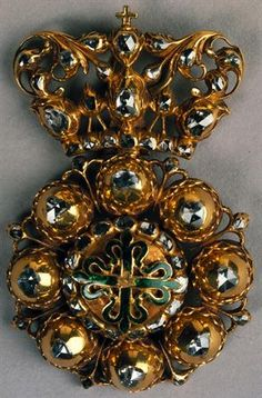 Gold, enamel and diamonds insignia of the knights of order of Avis, 1640-1660, Portugal