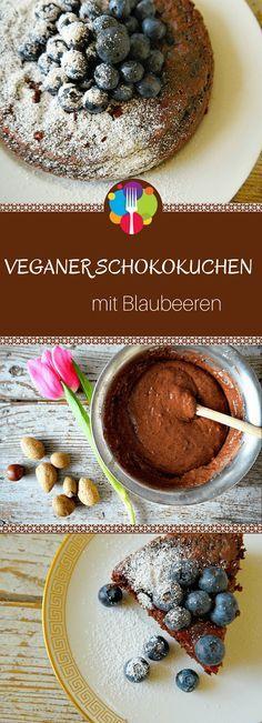 Veganer Schokokuchen Rezept mit Blaubeeren, Veganer Kuchen, vegan backen. Vegalife Rocks: www.vegaliferocks.de✨ I Fleischlos glücklich, fit & Gesund✨ I Follow me for more vegan inspiration @vegaliferocks