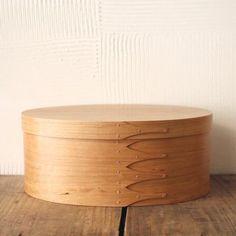 Oval Box Sakura Wood #7
