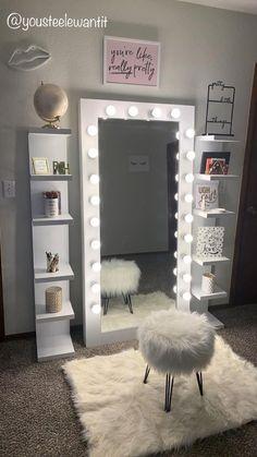 Cute Bedroom Decor, Room Design Bedroom, Bedroom Decor For Teen Girls, Girl Bedroom Designs, Teen Room Decor, Stylish Bedroom, Room Ideas Bedroom, Home Room Design, Dream Teen Bedrooms