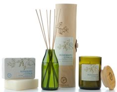 Paddy wax diffuser, candle and soap set