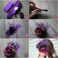 Fascinator tutorial in Photos.