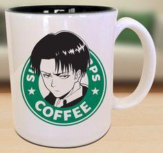 Levi-Ackerman-Survey Corps Angriff auf Titan Starbucks Anime Manga japanische Insipred Cartoon Geek Nerd Mug