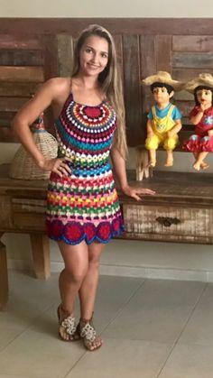 Vestido mesclas de cores e linhas!!! Vendas e encomendas (64)992798959