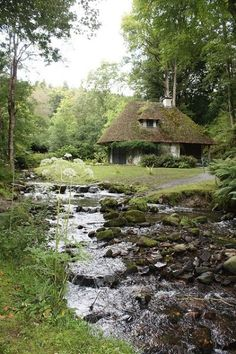 old cottage and stream by glenclara on Flickr