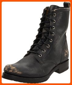 FRYE Women's Veronica Combat Boot, Black Stone Washed, 6 M US - All about women (*Amazon Partner-Link)