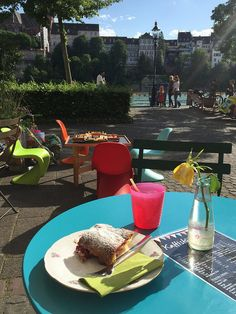 Best cafe for families touring basel. Right on the Rhine with view of the Munster. Perfect to grab a coffee, beer, snack, or ice cream. Lovely kids play space too. Kids Kinder z'veri is great for special inexpensive kids treat. Kids Play Spaces, Cool Cafe, Basel, Kids Playing, Touring, Families, Ice Cream, Treats, River