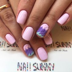 Cute pink gel nails
