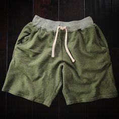 Pistol Lake sweat shorts in moss | mens sweatshorts shorts