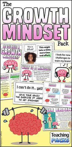 Help your children to develop their abilities with this bumper pack of growth mindset resources! Create a love of learning in your classroom with our popular teaching materials, activity resources and printable display goodies!  http://www.teachingpacks.co.uk/the-growth-mindset-pack/