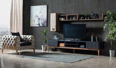 Prada Tv Unit – Medusa Home – Tv Üniteleri – Tv Unit – Welcome The uniteTv Tv Unit Interior Design, Tv Unit Furniture Design, Tv Unit Design, Home Design, Design Blog, Modern Design, Contemporary Tv Units, Modern Tv Units, Contemporary Decor