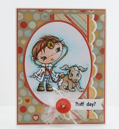 My Noteworthy Cards: Ruff Day? ~ such cute coloring and love the subtle background.