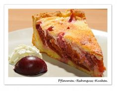 Pflaumen-Rahmguss-Kuchen: runde Form, 20 cm