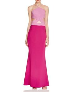 Maria Bianca Nero Cutout Halter Gown | Bloomingdale's