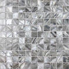 shell tiles 100% grey seashell mosaic mother of pearl tiles kitchen backsplash tile design BK012   Hominter.com $20.00 sq ft