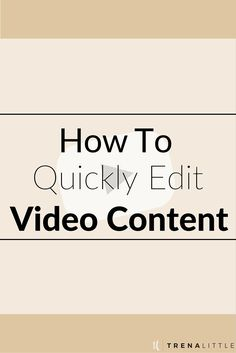Editing videos doesn't have to be overwhelming and take a lot of time. Marketing Online, Marketing And Advertising, Internet Marketing, Digital Marketing, Marketing Quotes, Marketing Ideas, Marketing Tools, Youtube Hacks, You Youtube