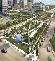 Cap Park - Klyde Warren Park by the Office of James Burnett. Landscape Design Plans, Landscape Architecture Design, Urban Architecture, Futuristic Architecture, Sustainable Architecture, Architecture Journal, Classical Architecture, Ancient Architecture, Contemporary Landscape
