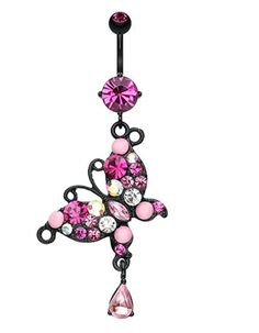 Blackline Glam Butterfly Belly Button Ring