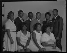 """""""Indoor Group Shot of Men and Women, Scarlett Singers"""" Collection of the Smithsonian National Museum of African American History and Culture"""