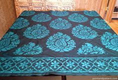 Get tips on how to paint stencils on silk. Yes, you can do that! This project used India stencils from Royal Design Studio on Paint + Pattern